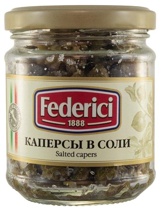 Federici Каперсы в соли, стеклянная банка 140 г