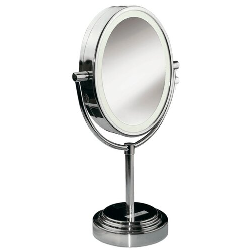 Зеркало косметическое настольное BaByliss 8437Е с подсветкой хромированныйЗеркала косметические<br>