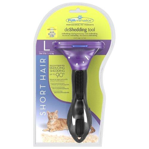Фурминатор FURminator для больших кошек короткошерстных пород 7 см фиолетовый/черныйГруминг и уход<br>