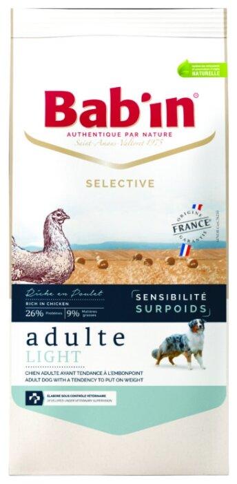 Корм для собак Bab'in Selective Adulte Light Sensitive Poulet
