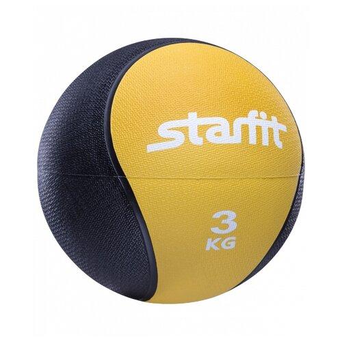 Медбол Starfit PRO GB-702, 3 кг желтый
