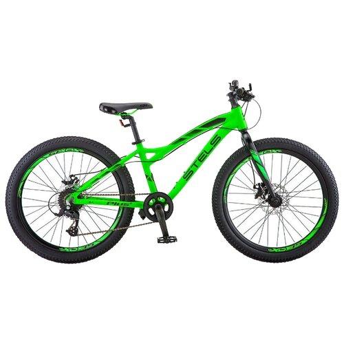 Подростковый горный (MTB) велосипед STELS Adrenalin MD 24+ V010 (2019) неоновый-лайм 13.5 (требует финальной сборки) подростковый горный mtb велосипед forward dakota 24 1 0 2020 зеленый белый 13 требует финальной сборки