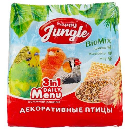 Happy Jungle Корм Daily Menu для декоративных птиц 350 г