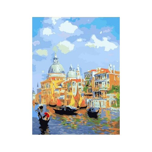Купить Цветной Картина по номерам Лазурь Венеции 40х50 см (MG6469), Картины по номерам и контурам