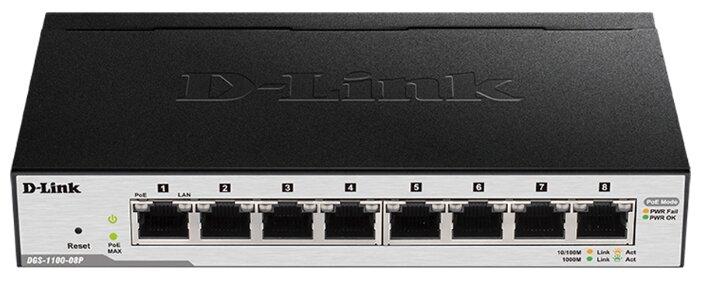 D-link Коммутатор D-link DGS-1100-08P/B