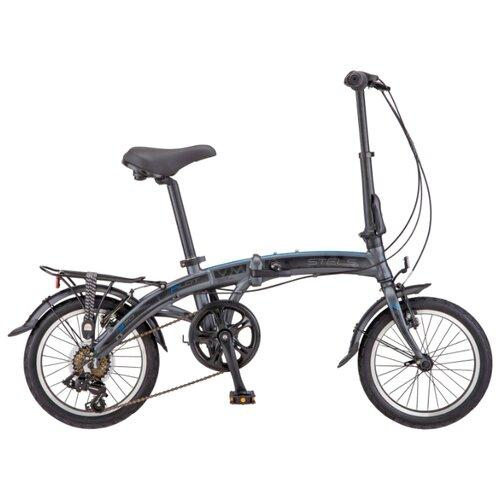 """Городской велосипед STELS Pilot 370 16 V010 (2019) антрацитовый 10"""" (требует финальной сборки)"""