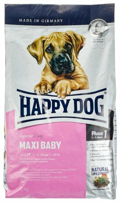 Корм для щенков Happy Dog Supreme Young 4 кг (для крупных пород)