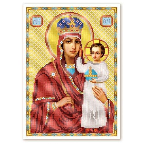 Купить Канва для вышивания с рисунком NOVA SLOBODA Призри на смирение БИС-9027, желтый/красный 19 х 25 см