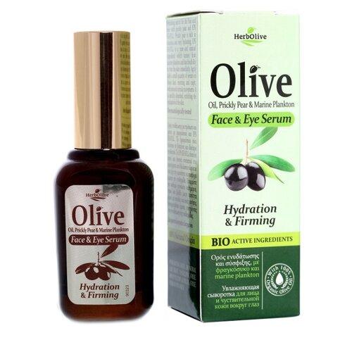 HerbOlive Увлажняющая сыворотка для лица и чувствительной кожи вокруг глаз 30 мл