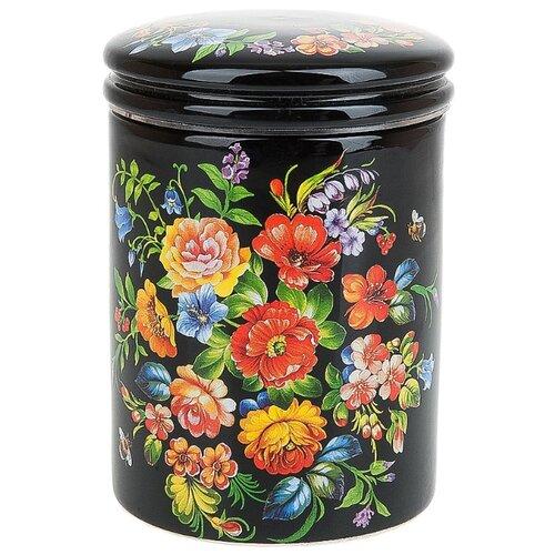Polystar Global Art Банка для сыпучих продуктов Романс 600 мл черный салатник 600 мл polystar