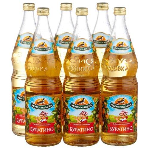лимонад напитки из черноголовки крюшон 6 шт по 1 л Газированный напиток Черноголовка Буратино, 1 л, 6 шт.
