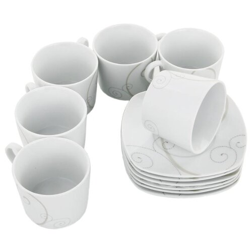 Чайный сервиз Domenik Caress Modern 250 мл белыйСервизы<br>