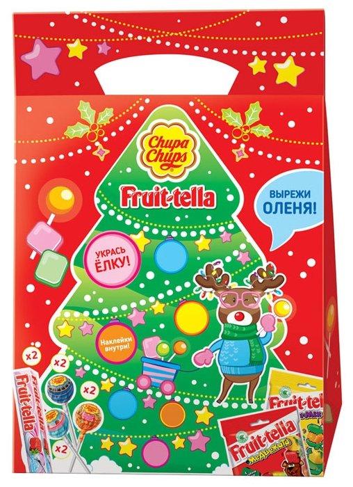 Подарочный набор Chupa Chups Новогодний Fruittella Елка 294 г