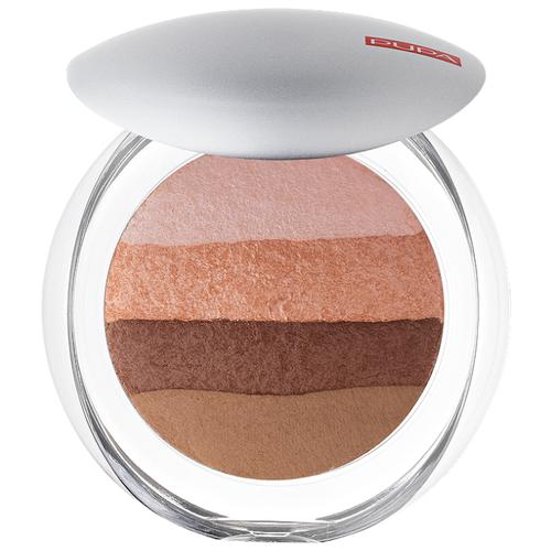 цена на Pupa Luminys Румяна-пудра-иллюминатор Baked All Over Illuminating Blush-Powder 02 stripes natural