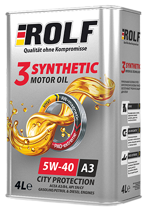 Моторное масло ROLF 3-Synthetic 5W-40 4 л