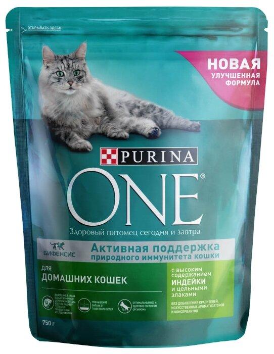 Корм для кошек Purina ONE для профилактики МКБ, с индейкой и с цельными злаками