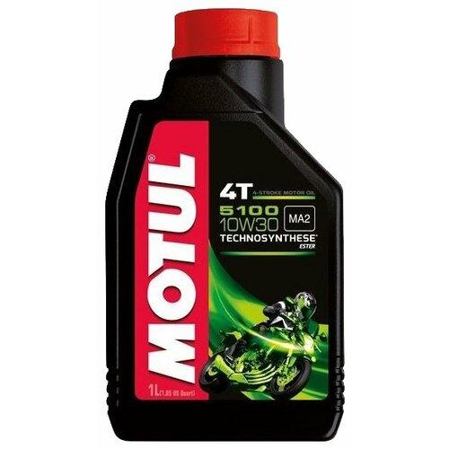 Полусинтетическое моторное масло Motul 5100 4T 10W30, 1 л