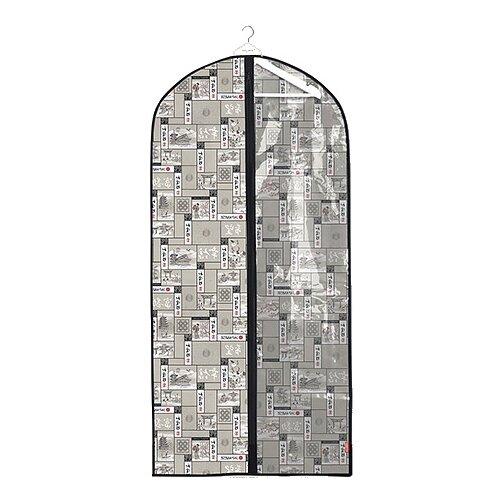 Valiant Чехол для одежды с прозрачной вставкой большой 137x60 см светло-серый