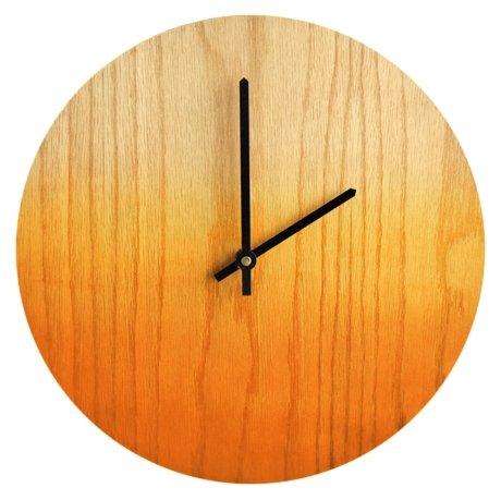 Часы настенные кварцевые Roomton Gradient Yellow 006/30/OR дерево