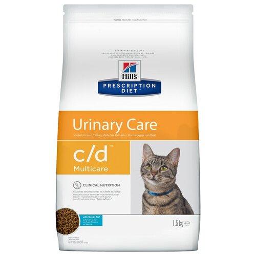 Сухой корм для кошек Hill\'s Prescription Diet C/D Multicare, для лечения МКБ, с океанической рыбой 1.5 кг