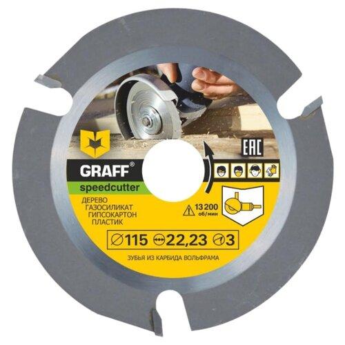 Диск отрезной 115x22.23 GRAFF Speedcutter 115 1 шт.Диски отрезные<br>
