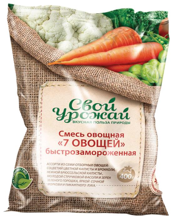 Свой урожай замороженная смесь овощная 7 овощей 400 г