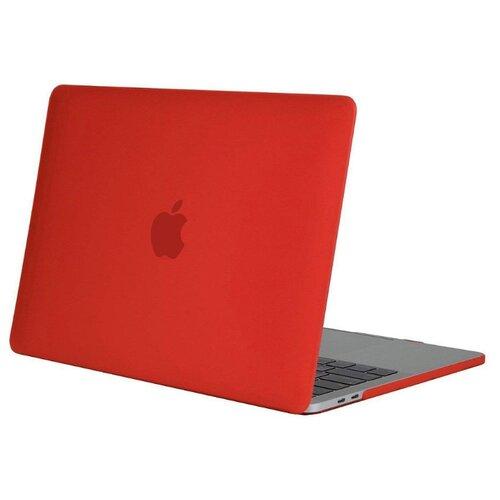 Купить Чехол-накладка UVOO пластиковая накладка для Macbook Pro 13 Retina (2017) | с покрытием Soft-Touch красный