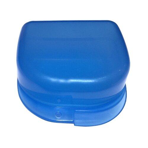 StaiNo Denture Box – Бокс пластиковый, 78*83*45 мм, голубой