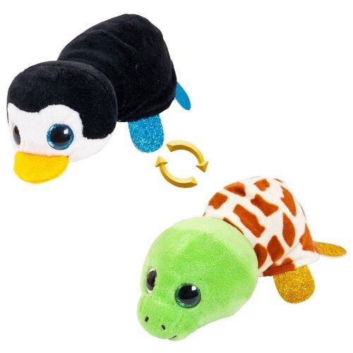 Игрушка мягкая ABtoys Вывернушка Пингвин-Черепаха мягкая игрушка вывернушка 40 см 2в1 тигр черепаха