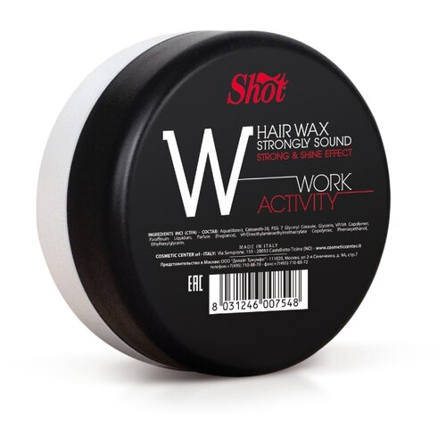 Shot Воск Work Activity Hair Wax Strongly Shine Effect, сильная фиксация, 100 мл