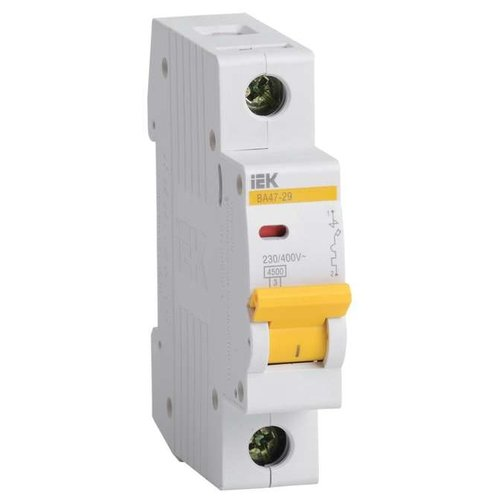 Автоматический выключатель IEK ВА 47-29 1P (B) 4,5kA 10 ААвтоматические выключатели<br>
