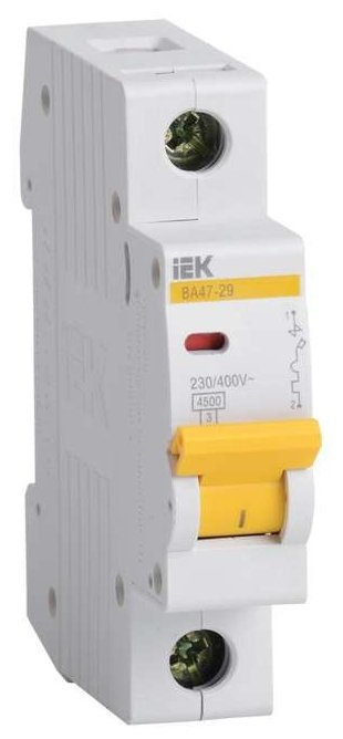 Автоматический выключатель IEK ВА 47-29 1P (B) 4,5kA