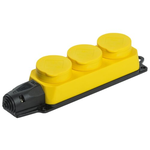 Колодка IEK Омега РБ33-1-0м 16 А желтый