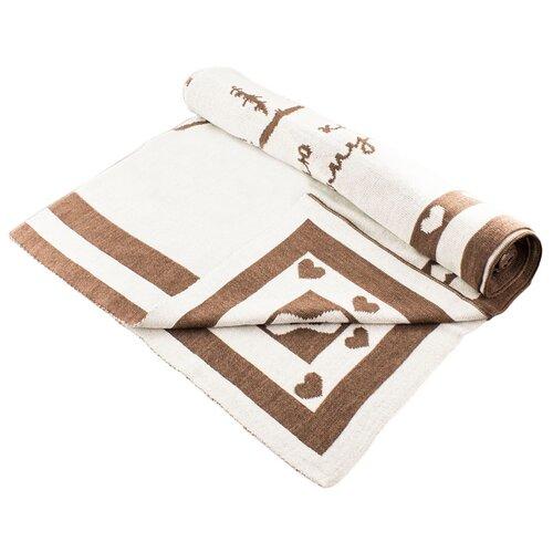 Купить Плед LEO 1611 90x100 коричневый медвежонок, Покрывала, подушки, одеяла