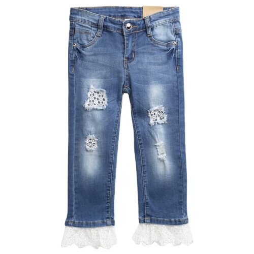 Джинсы playToday размер 116, синий шорты playtoday размер 116