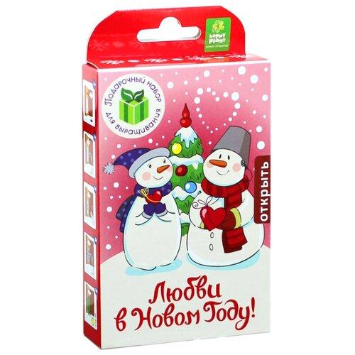 Набор для выращивания Happy Plant Живая открытка С Новым годом! (Снеговик) недорого