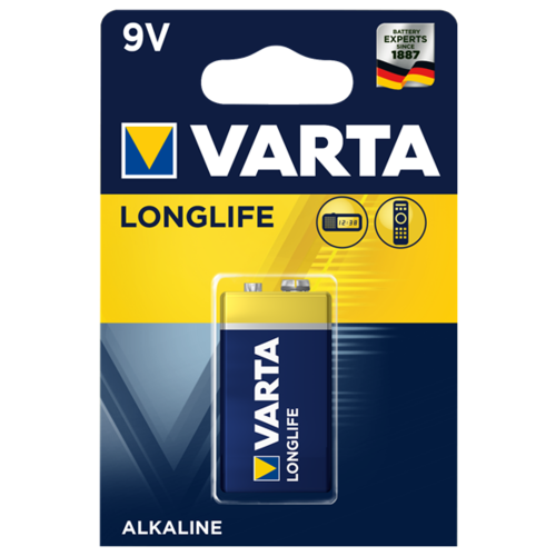 Фото - Батарейка VARTA LONGLIFE 9V Крона 1 шт блистер батарейка varta longlife power 3lr12 1 шт блистер