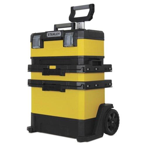 Ящик-тележка STANLEY 1-95-621 Rolling Workshop 73x56.8x38.9 см желтый/черный ящик тележка stanley 1 94 210 fatmax mobile work station cantilever 52x38x73 см черный