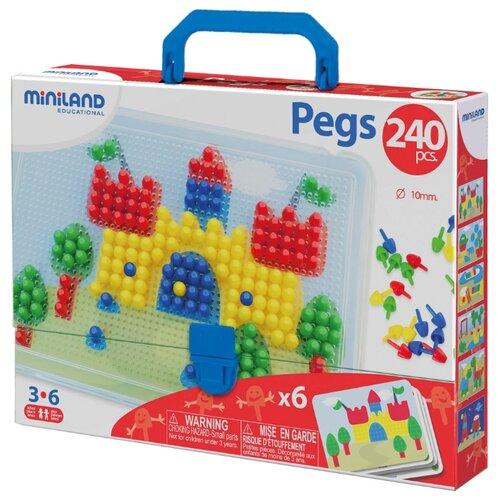 Купить Miniland Мозаика Pegs 10 мм, 240 элементов (31804)