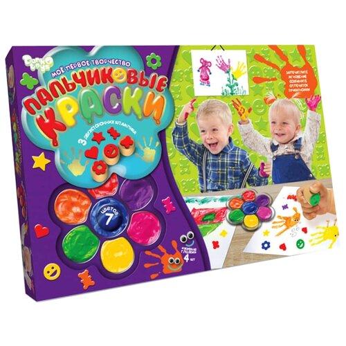 Danko Toys Пальчиковые краски Мое первое творчество 7 цветов (PK-01-01)