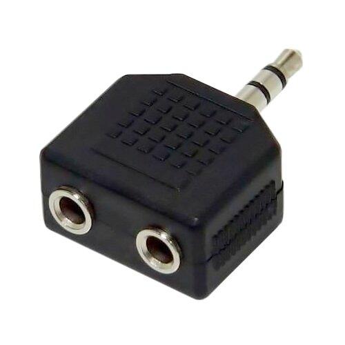 Разветвитель VCOM 3.5 Jack - 2х3.5 Jack (VAD7847) черный аксессуар vcom 3 5 jack m 2x3 5 jack f vad7847