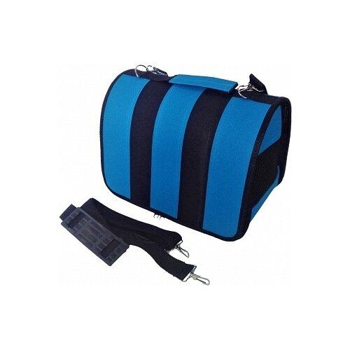 Сумка-переноска для кошек и собак LOORI Z8685/Z8722 31х20х22 см синий