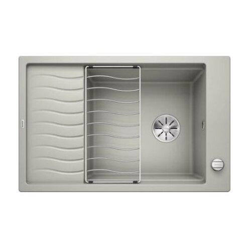 Врезная кухонная мойка 78 см Blanco Elon XL 6S с клапаном-автоматом 524837 жемчужный
