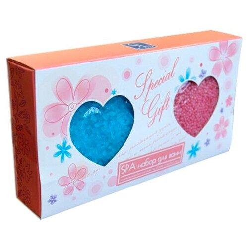 SPA by LARA Набор Соль морская для ванн Роза голубая + Увлажняющие жемчужины для ванн Роза розовая