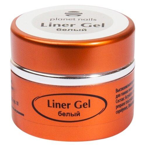 Краска planet nails Liner Gel для тонких линий белый паста planet nails paste gel серебряная