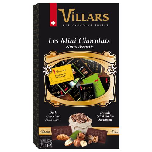 Шоколад Villars Les Mini Chocolats ассорти горький и темный, порционный, 250 г