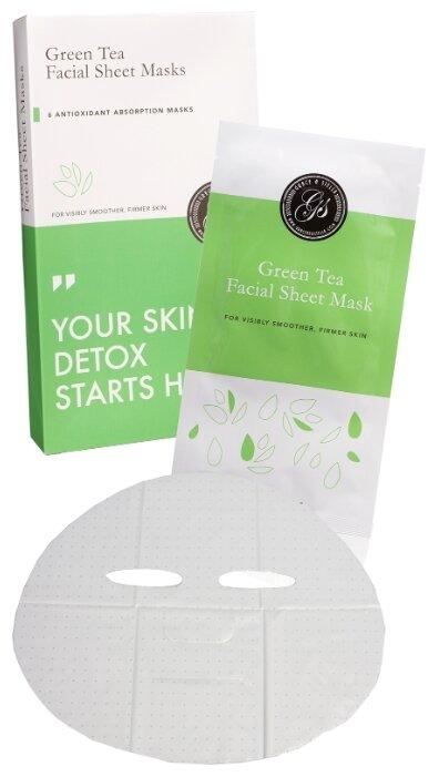 Grace & Stella Маска тканевая для лица с экстрактом зеленого чая Gren Tea Facial Sheet Masks