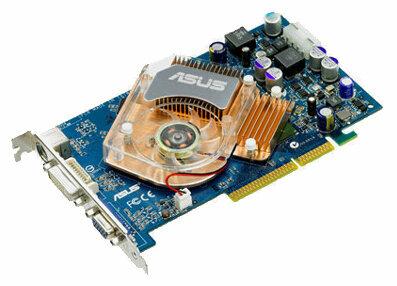Видеокарта ASUS GeForce 6600 GT 500Mhz AGP 128Mb 900Mhz 128 bit DVI TV
