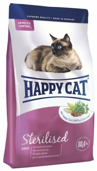 Корм для стерилизованных кошек Happy Cat — купить по выгодной цене на Яндекс.Маркете
