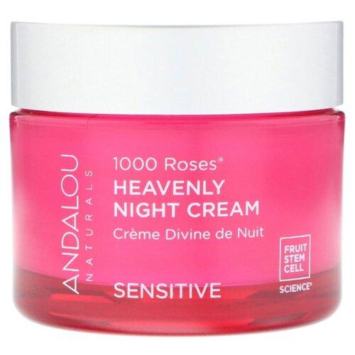 Andalou Naturals 1000 Roses Sensitive Heavenly Night Cream Крем Ночной для лица, 50 г недорого